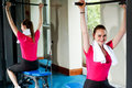 Cute smiling female working out Stock Image