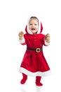 Cute smiling Santa Claus baby girl Royalty Free Stock Photo