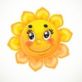Cute smiling sun this is file of eps format Stock Photo