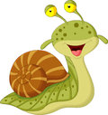 Cute snail cartoon illustration of Stock Photo