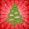 Cute snake (symbol of 2013 year) Royalty Free Stock Image