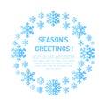 Cute Snowflake Poster, Banner....
