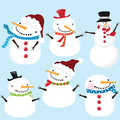 Cute snowman a vector illustration of Stock Photography