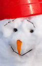 Cute snowman in winter Royalty Free Stock Photography