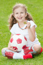Cute soccer champion Stock Photography