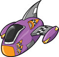 Cute Spaceship vector Illustration Royalty Free Stock Photo