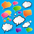 Cute Speech Bubbles Stock Photography