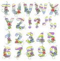 Cute spring alphabet Royalty Free Stock Photos