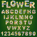 Cute spring alphabet Royalty Free Stock Images