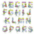 Cute spring alphabet Stock Photo