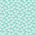 Cute spring floral pattern white daisies on mint