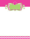 Cute spring flyer daisy flower for the with and chevron design Stock Images