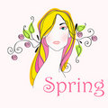 Cute spring girl Royalty Free Stock Image