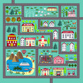 Cute square road play mat for kids activity and entertainment