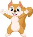 Cute squirrel hand waving