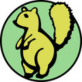 Cute squirrel with a fluffy tail. Vector available Royalty Free Stock Photos
