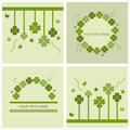Cute st. patrick's day cards Stock Photography
