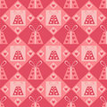 Cute st. valentine's day presents pattern Stock Images