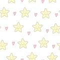 Cute starfish vector seamless background