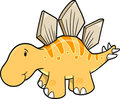 Cute Stegosaurus Vector Illustration Royalty Free Stock Image