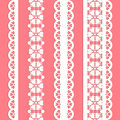 Cute straight seamless lace set Stock Images