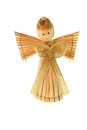Cute straw angel isolated white Stock Photos