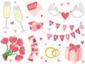 Cute & Stylish Wedding Items Set