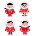Cute stylized eskimo collection Royalty Free Stock Photo