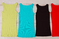 Cute summer tank tops. Royalty Free Stock Photo