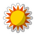 Cute sun isolated icon