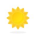 Cute sun with triangular rays