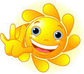 Cute Sun waiving hello Stock Images