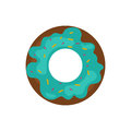 Cute sweet colorful tasty donut diet dessert chocolate or cream yummy cookie food confectionery and candy decoration