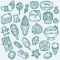 Cute sweets icons.