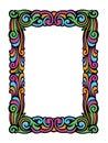 Cute Swirly Frame of Colorful Retro Swirls Royalty Free Stock Photo