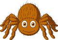 Cute tarantula spider cartoon illustration of Stock Photo