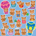 Cute teddy bear clip art with background Stock Image