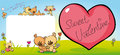 cute teddy bear design with valentine heart - vector