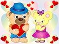 Cute Teddy Bear Love wallpaper