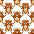 Cute Teddy Bear Seamless Pattern Royalty Free Stock Photo