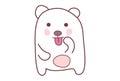Cute Teddy Sticker Teasing.