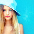 Cute teen girl portrait of a Royalty Free Stock Photography