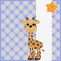 Cute template for postcard with giraffe Royalty Free Stock Images