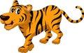 Cute tiger cartoon Stock Photography