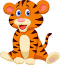 Cute tiger cartoon illustration of Royalty Free Stock Image