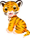 Cute tiger cartoon illustration of Royalty Free Stock Photos