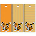 Cute Tiger tag or label collection Royalty Free Stock Photos