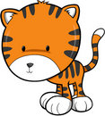 Cute Tiger Vector Royalty Free Stock Images