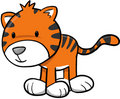 Cute Tiger Vector Illustration Royalty Free Stock Photo