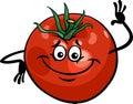 Cute tomato vegetable cartoon illustration